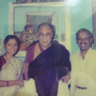 Dr. Naram mit Dalai Lama