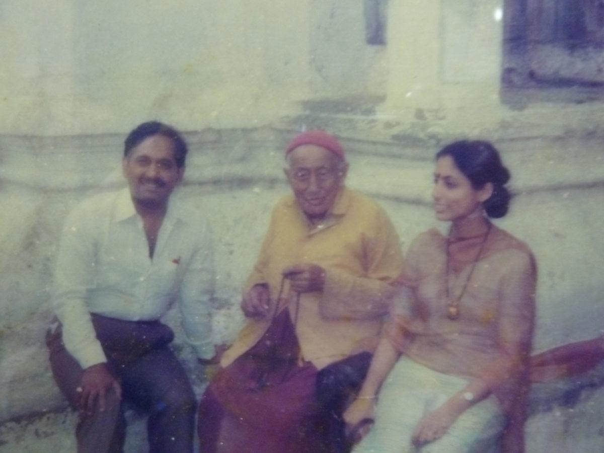 Dr. Naram mit seinem Lehrer Skri Baba Ramdas